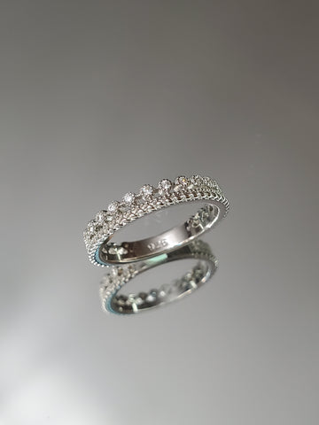 Thin CZ Sterling Silver Ring - www.emmavera.com