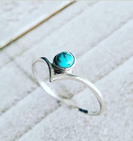 Turquoise Sterling Silver Ring - www.emmavera.com