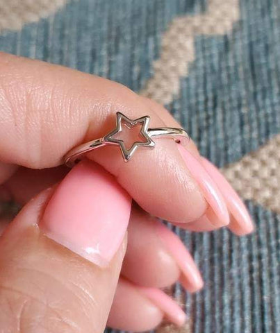 Five Point Wishing Shooting Star Ring - www.emmavera.com