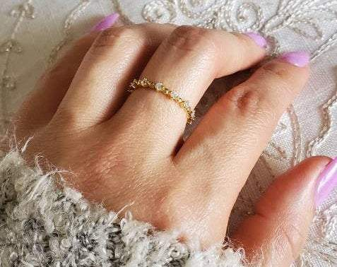 Simple 14K Gold Plated Eternity Ring - www.emmavera.com
