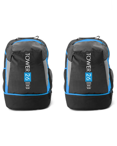 2 x Tower 26 Triathlon Transition Bag Backpack