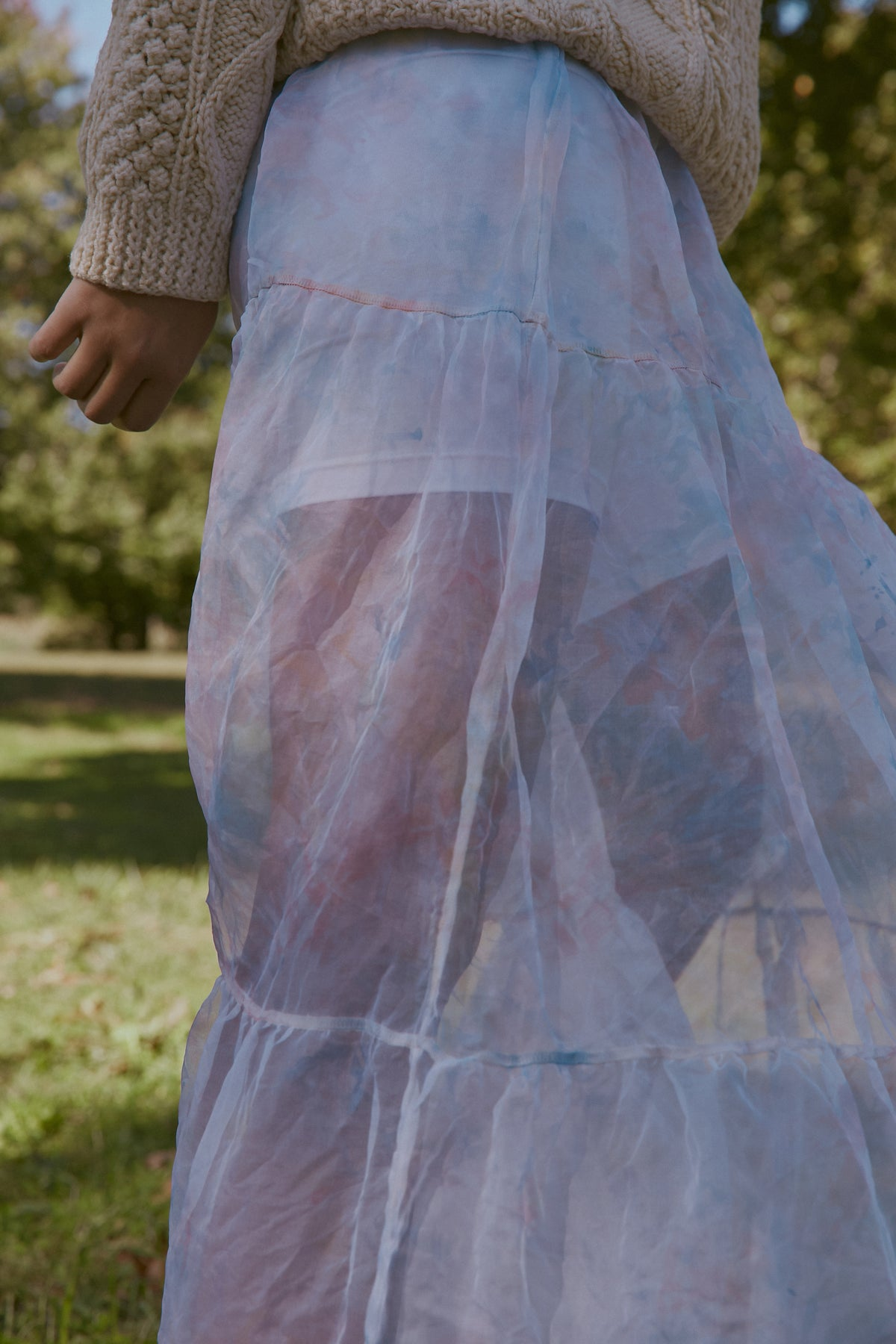 Sheer Silk Organza Skirt