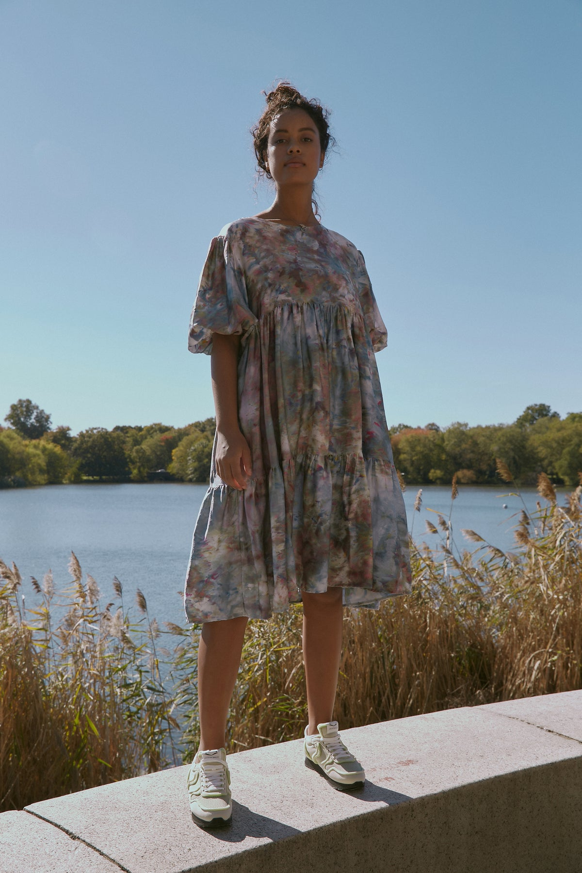 Elie Dress in Water Lily