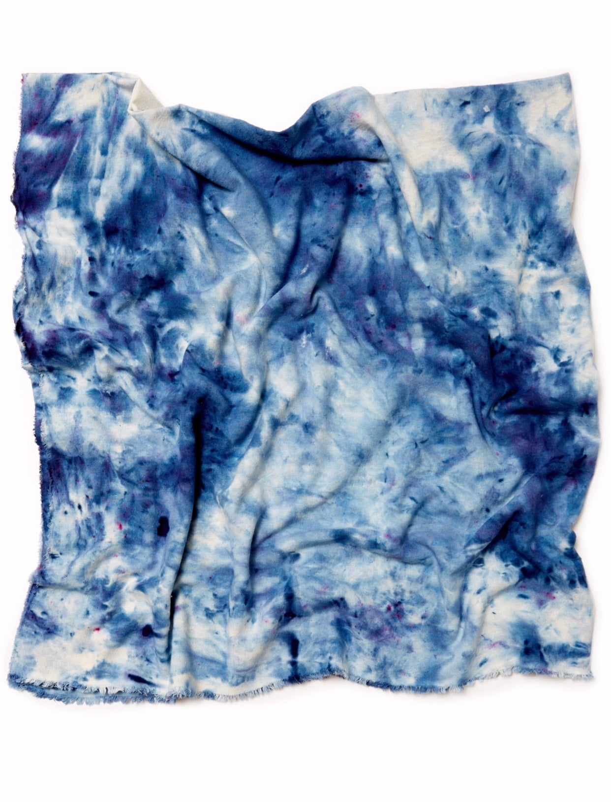 Raw Silk Scarf in Indigo - riverside tool & dye