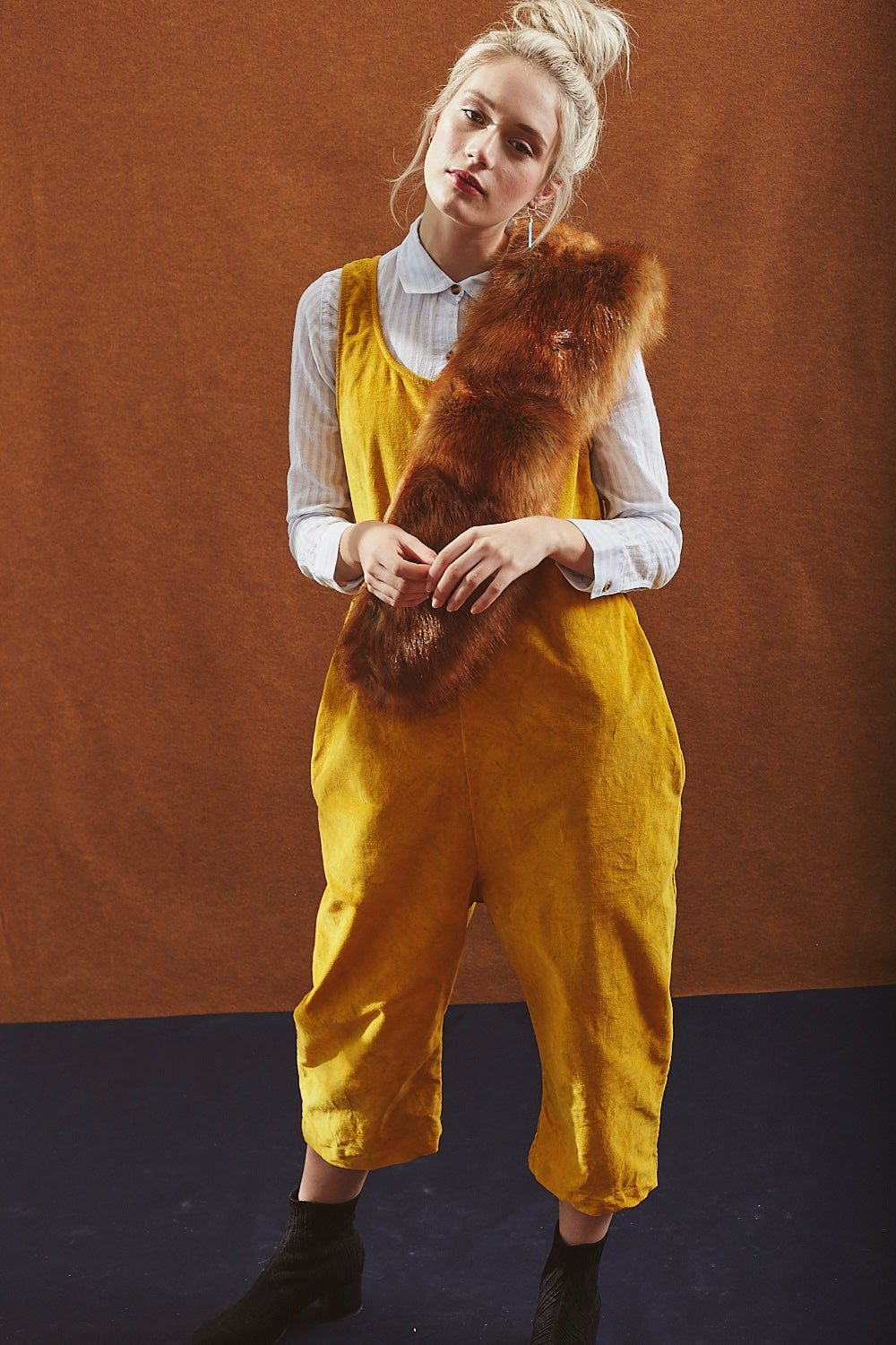 James Jumpsuit in Corduroy Marigold - riverside tool & dye