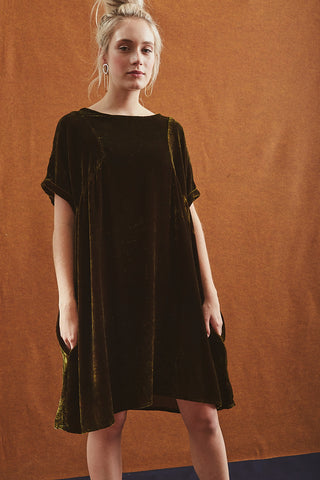 Jules Dress in Silk Velvet