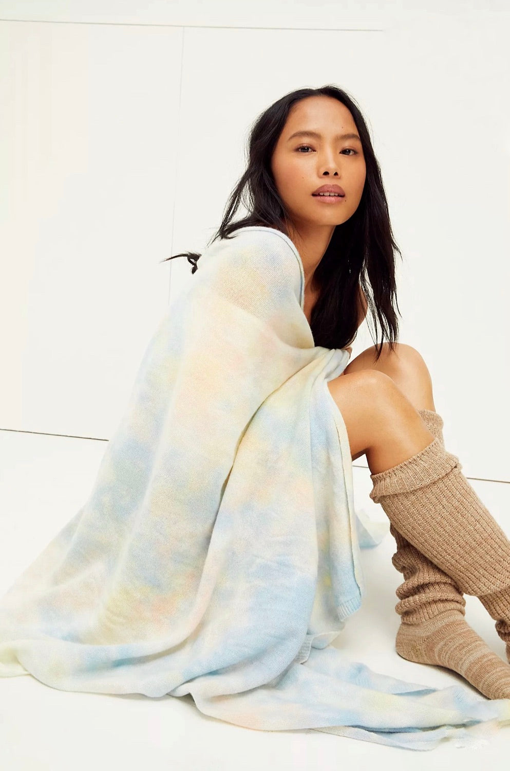 Cashmere Blanket Wrap in Sorbet