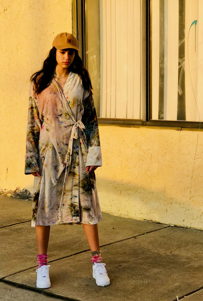 Kimono Dress in Silk Velvet