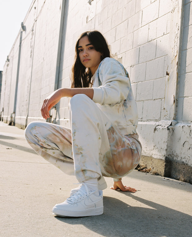Sweatpants in Ivory - riverside tool & dye