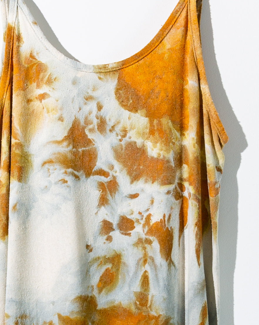 Raw silk slip dress