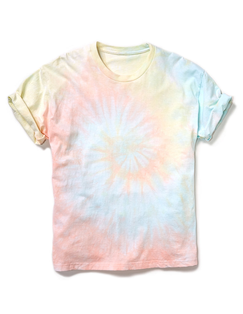 Short Sleeve Box Tee in Spiral Sorbet - riverside tool & dye