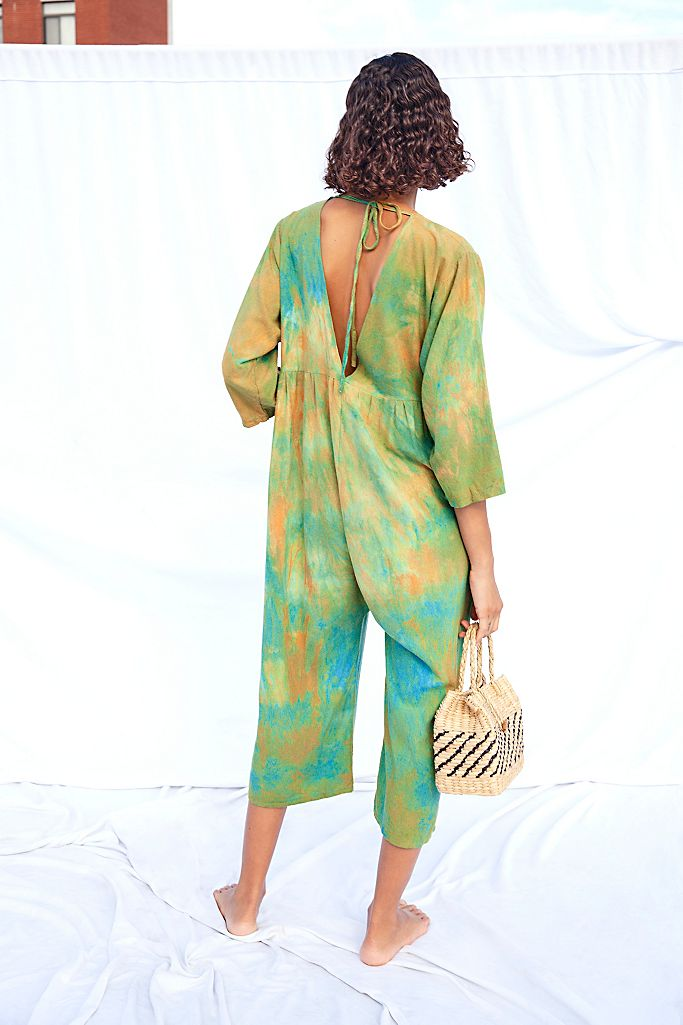 Agnes jumpsuit in raw silk