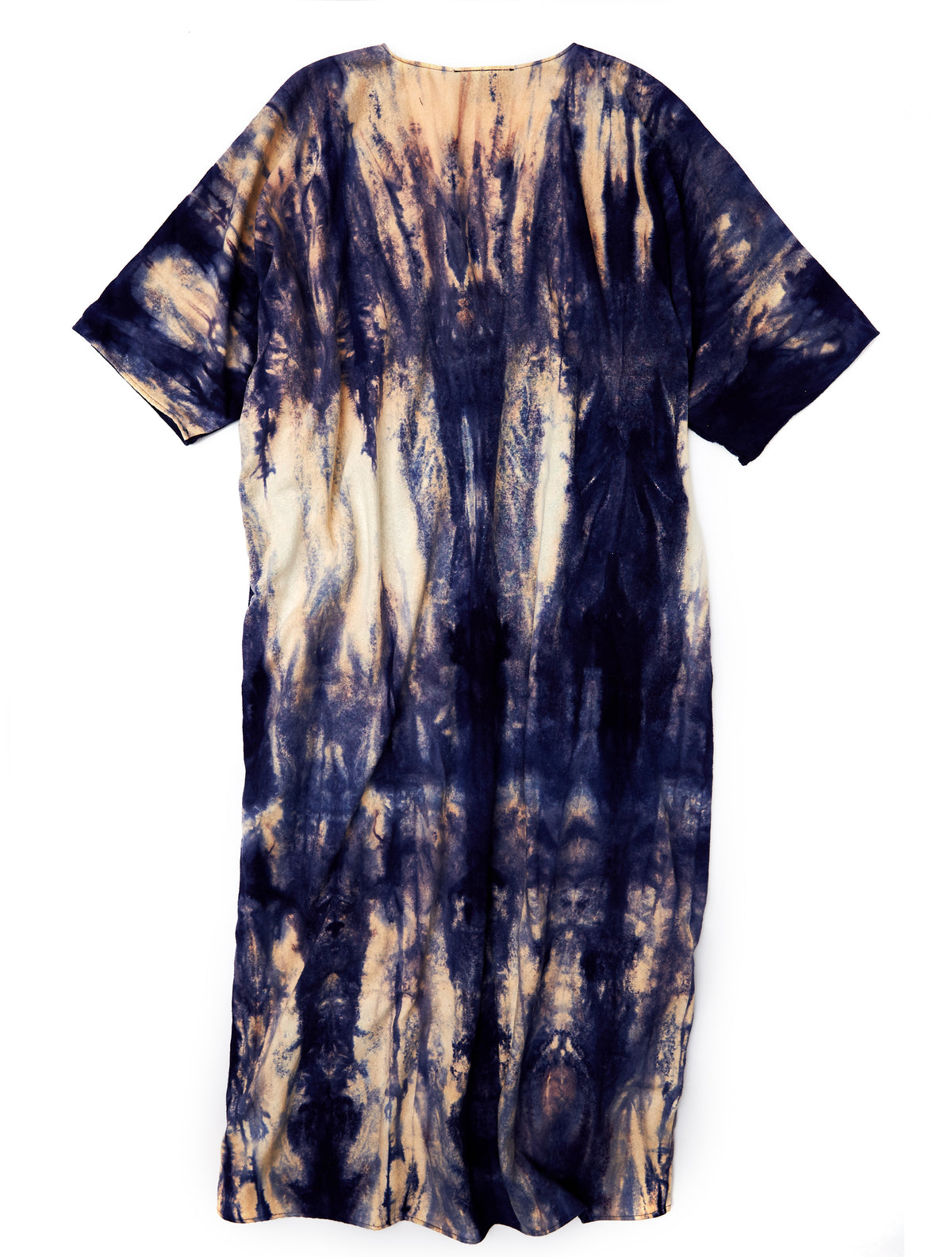 Nico Dress in Navy Raw Silk - riverside tool & dye