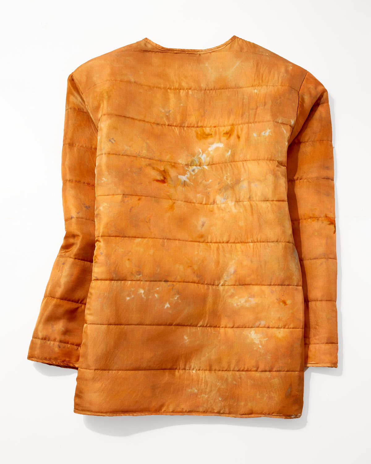 Quilted Silk Coat in Copper