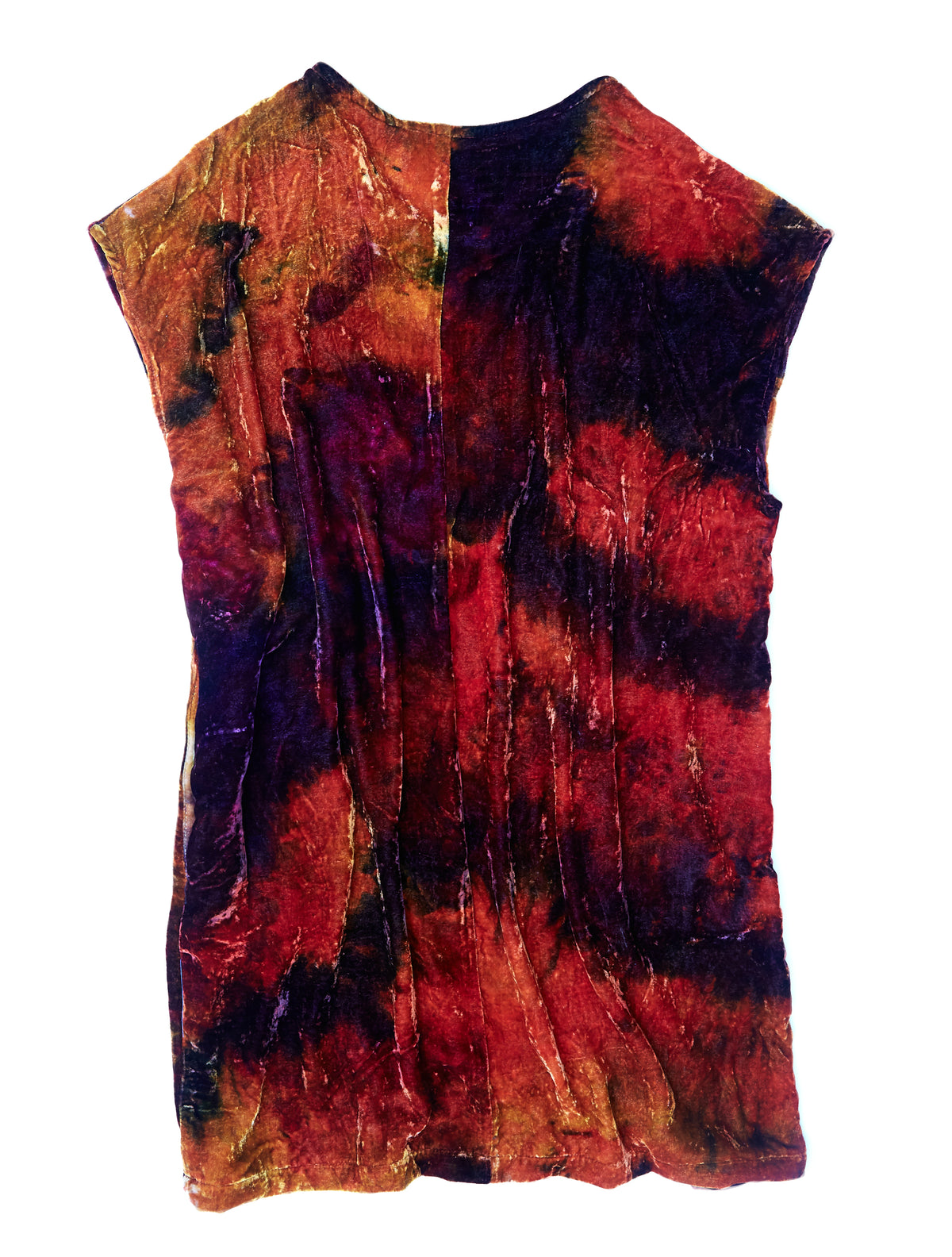Box Dress in Hendrix Silk Velvet - riverside tool & dye
