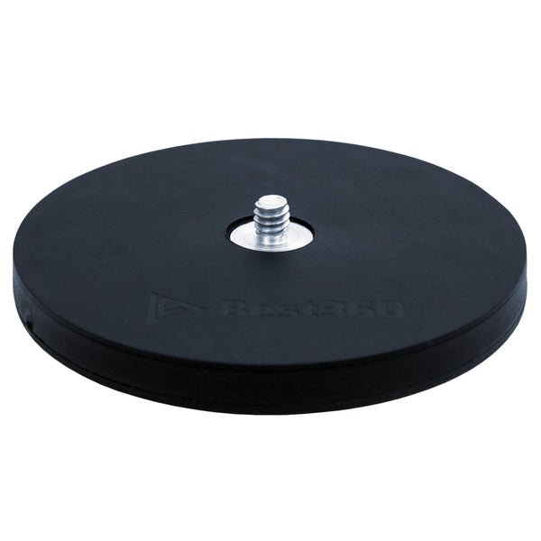 Best360 Black Rubber Coated 88MM Circular Magnetic Camera Mount