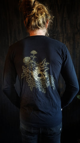 Hidden Skull Long Sleeve T-Shirt - Recluse Roasting Project