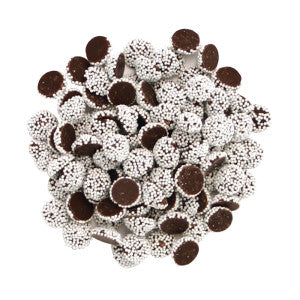 Nassau Candy Dark Chocolate Mini Nonpareils With White Seeds 10.00Lb Case