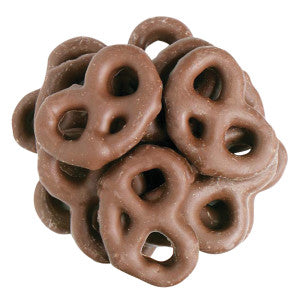Nassau Candy Maltitol Milk Chocolate Mini Pretzels 15.00Lb Case