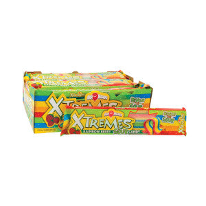 Airheads Xtremes Sour Rainbow Berry Belts 2 Oz 18Ct Box