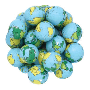 Earth Balls Milk Chocolate Foiled 10.00Lb Case