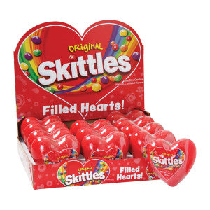 Skittles Original Filled Plastic Heart 2.17 Oz 12Ct Box