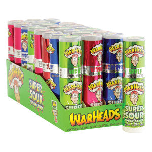 Warheads Super Sour Spray Candy 24Ct Box
