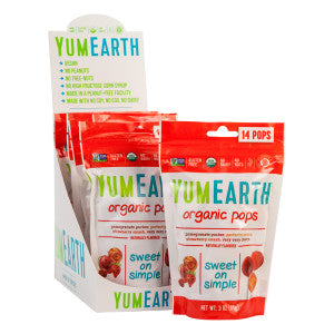 Yumearth Organic Lollipops 3 Oz Pouch 6Ct Box