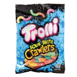 Trolli Sour Brite Crawlers 5 Oz Peg Bag 12Ct Case