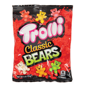Trolli Classic Gummy Bears 5 Oz Peg Bag 12Ct Case