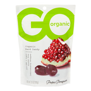 Go Organic Pomegranate Hard Candy 3.5 Oz Pouch 6Ct Box