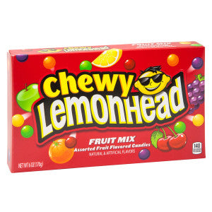 Chewy Lemonhead Fruit Mix 5 Oz Theater Box 12Ct Case