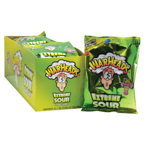 Warheads Extreme Sour Assorted Hard Candy 1 Oz Bag 12Ct Box