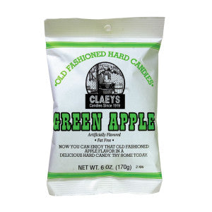 Claey'S Green Apple Drops 6 Oz Bag 24Ct Case