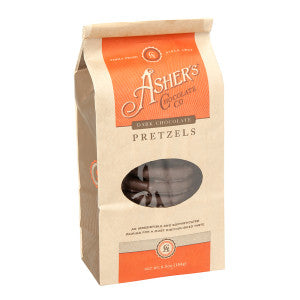 Asher'S Dark Chocolate Pretzels 6.5 Oz Bag 12Ct Case