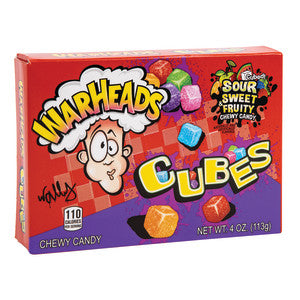 Warheads Sour Chewy Cubes 4 Oz Theater Box 12Ct Case