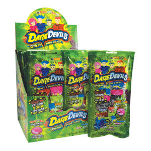Dare Devils Extreme Sour Candy 1.4 Oz 18Ct Box