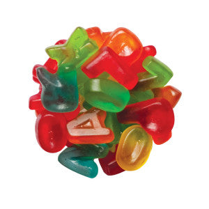 Clever Candy Mini Gummy Alphabet Letters 6.60Lb Bag