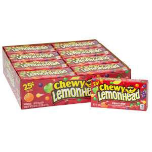 Chewy Lemonhead Fruit Mix Preprice 0.8 Oz Box 24Ct Box