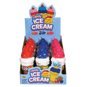 Candy Ice Cream Twist N Lik 0.64 Oz 12Ct Box
