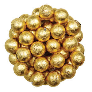 Niagara Chocolates Gold Foiled Milk Chocolate Balls 10.00Lb Case
