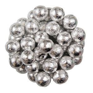 Niagara Chocolates Silver Foiled Milk Chocolate Balls 10.00Lb Case