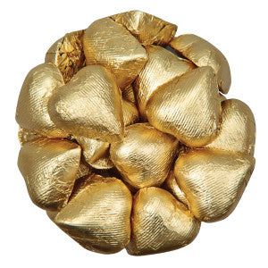 Niagara Chocolates Gold Foiled Milk Chocolate Hearts 10.00Lb Case