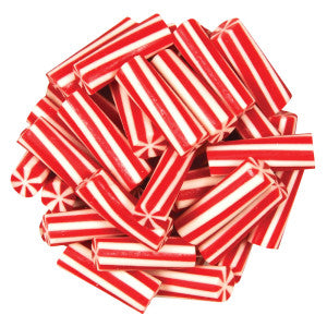 Vidal Mini Strawberry Licorice Candy Cane Logs 4.40Lb Bag
