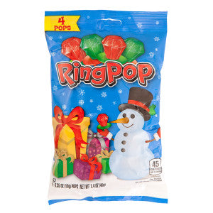 Ring Pop Christmas 4 Pc 2 Oz Peg Bag 12Ct Case