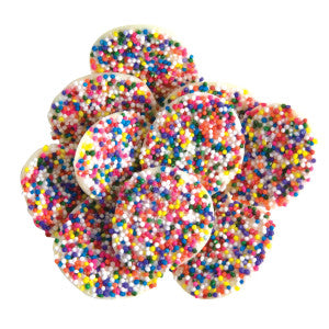 Asher'S White Chocolate Nonpareils With Rainbow Seeds 8.00Lb Box