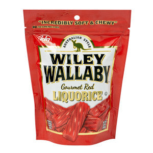 Wiley Wallaby Australian Style Red Liquorice 10 Oz Pouch 10Ct Case