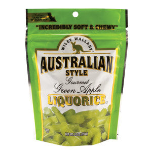Wiley Wallaby Australian Style Green Apple Liquorice 10 Oz Pouch 10Ct Case