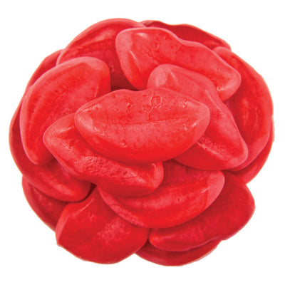 GUMMY FILLED PUFFY LIPS - STRAWBERRY - 2.2LB - 12/CS
