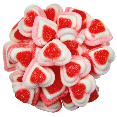 GUMMY TRIPLE HEARTS ( RED - PINK - WHITE) 4.4LB 6/CS